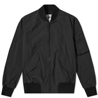 Aspesi Tech Nylon Ma 1 Bomber Jacket Black