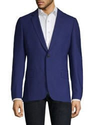 Paul Smith Cotton Knitted Sportcoat Royal Blue