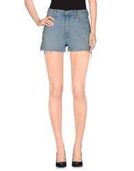 Mother Denim Denim Shorts Women Blue