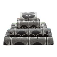 Orla Kiely Climbing Rose Towel Multi Grey White