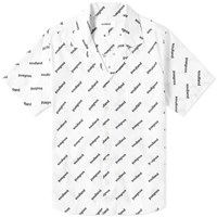 Soulland Short Sleeve New Logo Print Vacation Shirt White