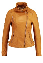 Freaky Nation Princess Leather Jacket Cognac