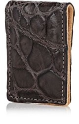 Barneys New York Men's Alligator Money Clip Dark Grey