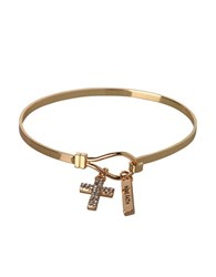 Bcbgeneration Basic Have Faith And Cross Charm Bracelet Gold