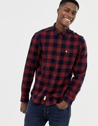 Jack Wills Langworth Flanel Check Shirt In Red