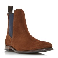 Loake Hatton Colour Pop Chelsea Boots Brown