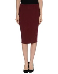 Ready To Fish Knee Length Skirts Maroon