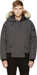 Canada Goose Grey Down And Fur Chilliwack Bomber
