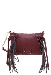 Lipsy Across Body Bag Red Bordeaux