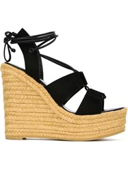 Saint Laurent Wedge Sandals Black