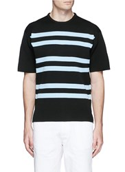 Acne Studios 'Keris' Stripe Short Sleeve Sweater Black
