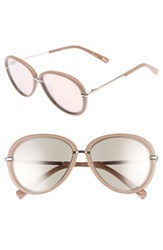 Elizabeth And James Women's Reed 57Mm Aviator Sunglasses Stone