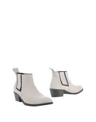 Won Hundred Ankle Boots Ivory