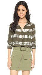 Bella Dahl Pocket Shirt Olive