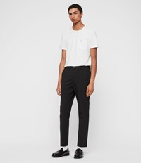 Allsaints Whyte Cropped Tailored Trousers Jet Black