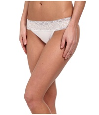 Ongossamer Cabana Cotton Breeze Thong 022853 White Women's Underwear