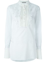 Ermanno Scervino Floral Embroidery Shirt White