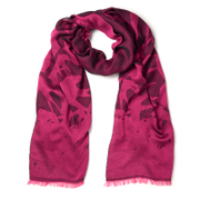 Mcq By Alexander Mcqueen Women's Swallow Scarf Iconic Pink Black