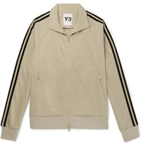 Y 3 Striped Tech Jersey Track Jacket Beige