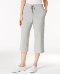 Karen Scott Petite Drawstring Capri Pants Only At Macy's Smoke Grey Heather