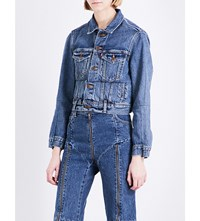 Vetements Levi's Cropped Denim Jacket Blue
