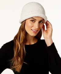 August Hats Crochet Classic Chenille Roll Up Hat Winter White