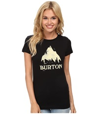 Burton Stamped Monument S S True Black Women's T Shirt