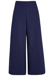 Finders Keepers Eames Navy Cropped Twill Trousers