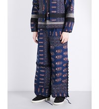 Craig Green Patchwork Print Wool Blend Quilted Trousers Print 3