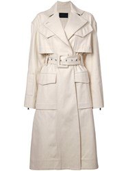 Proenza Schouler Canvas Denim Trench Coat White