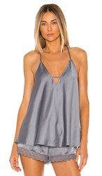 Flora Nikrooz Victoria Cami In Slate. Storm