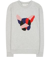Etre Cecile Printed Cotton Fleece Sweatshirt Grey