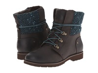 The North Face Ballard Lace Mm Coffee Brown Blue Green Tweed Women's Lace Up Boots