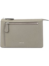 Cerruti 1881 Zipped Clutch Bag Grey