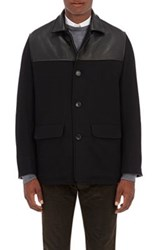 Golden Bear X Barneys New York Men's The Philly Wool Blend And Leather Jacket Black