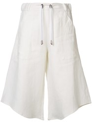 Wanda Nylon Melody Cropped Trousers White
