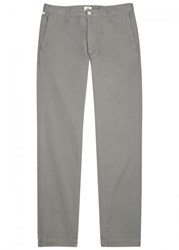 Citizens Of Humanity Davis Light Grey Tapered Cotton Chinos