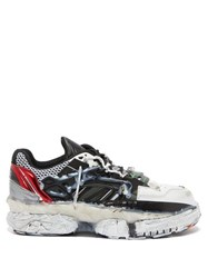 Maison Martin Margiela Fusion Leather And Mesh Trainers White Multi