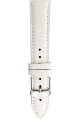Michele 16Mm Leather Watch Strap White Lizard