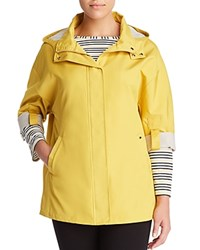 Marina Rinaldi Tarbes Roll Up Sleeve Coat Yellow