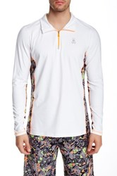 Psycho Bunny Quarter Zip Performance Pullover White