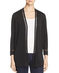 Vince Camuto Sheer Trim Cardigan Rich Black
