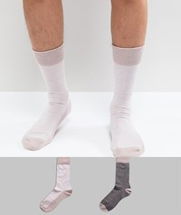 Selected Homme Socks 2 Pack Shadow Gray Multi