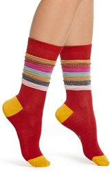 Paul Smith Estelle Frill Socks Pink