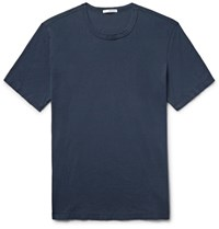 James Perse Combed Cotton Jersey T Shirt Storm Blue