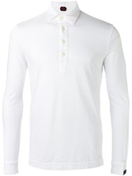 Massimo Piombo Mp Long Sleeve Polo Shirt Men Cotton M White