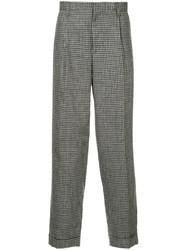Kolor Houndstooth Straight Trousers Blue
