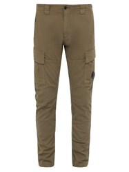 C.P. Company Lens Cotton Twill Cargo Trousers Grey