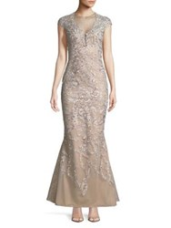 Mandalay Lace Mermaid Gown Champagne