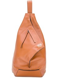 Loewe Triangular Structure Shoulder Bag Brown